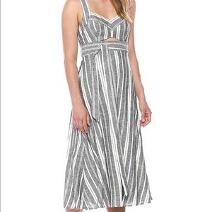 BCBGMAXAZRIA Women's Stripe Cutout Midi Dress